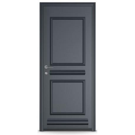 Porte Aluminium Pleine DESTRA avec cimaise et plinthe