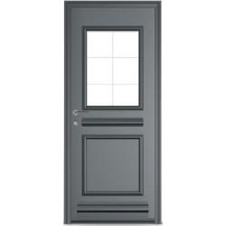 Porte Aluminium DESTRA vitrée avec plinthe