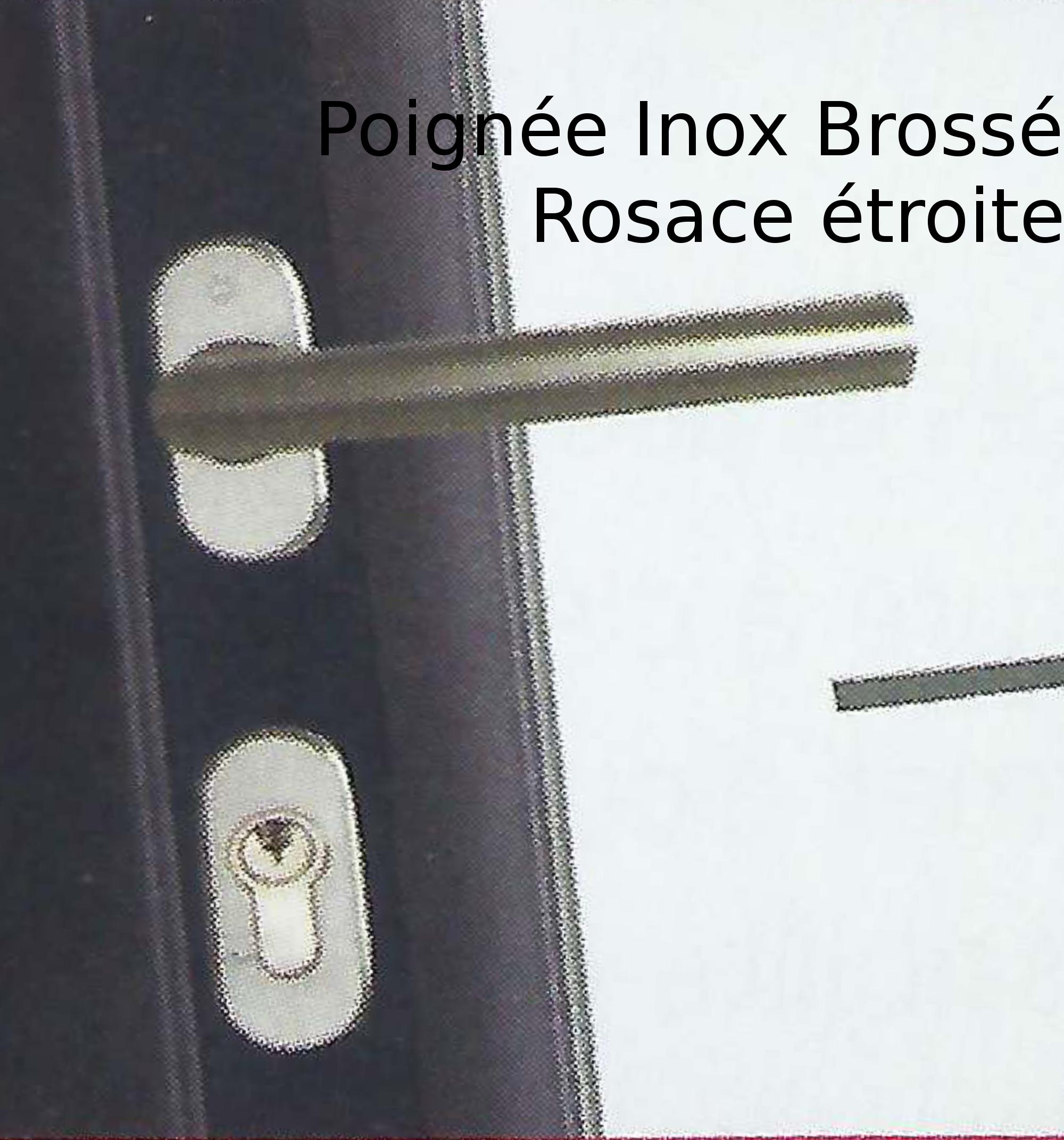 Poignée Inox Brossé Rosace étroite